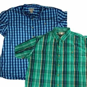 Lot of 2 DULUTH TRADING CO S/S Button Up Shirts